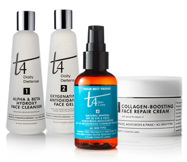 t4 skincare, 4 easy steps to healthier skin